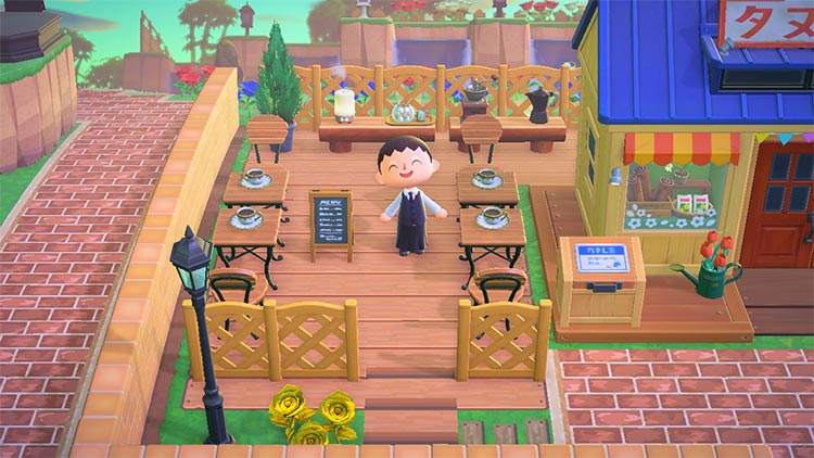 ACNH Cafe and Nook's Store Design Idea