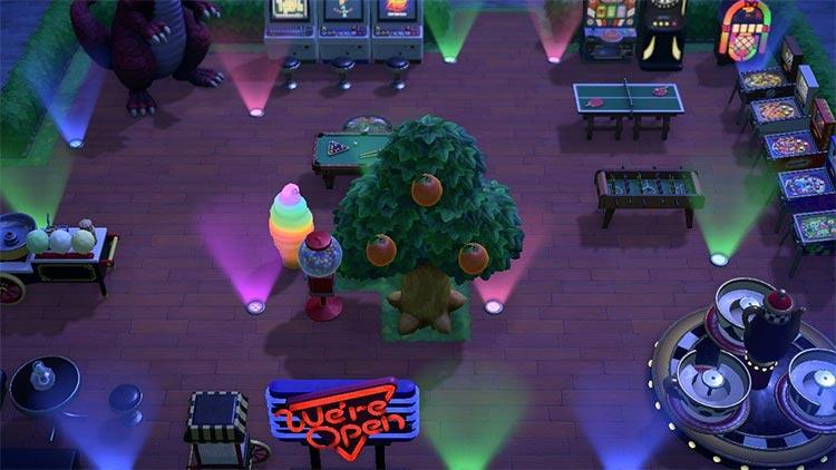 Outdoor Arcade idea for ACNH