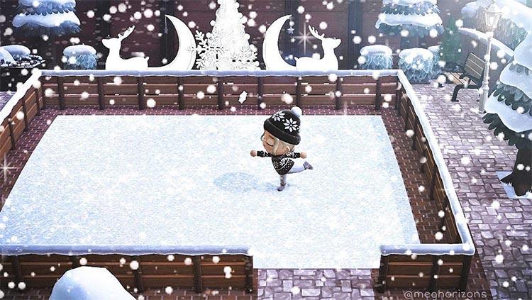 Ice skating rink in ACNH