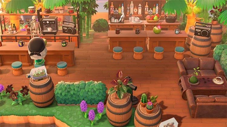 Outdoor Tiki Bar Idea for ACNH