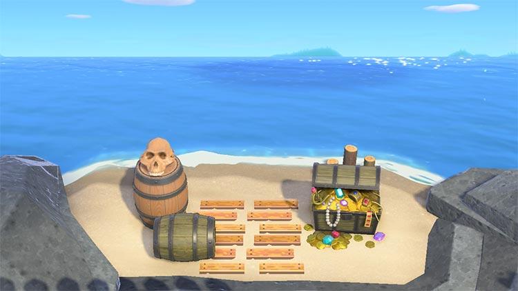 Pirate cove secret beach idea - ACNH