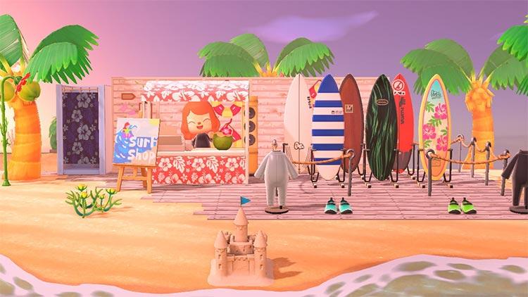 Surf Shack Idea for Animal Crossing New Horizons