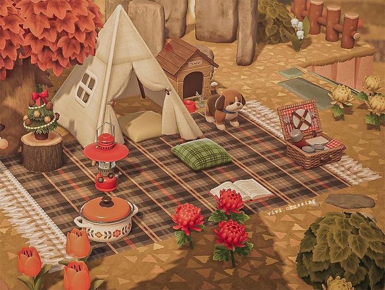 ACNH cozy picnic area idea