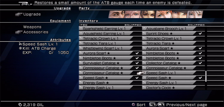 Speed Sash FFXIII screenshot