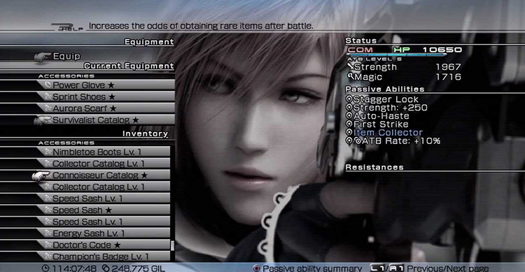 Connoisseur's Catalog from from FF13