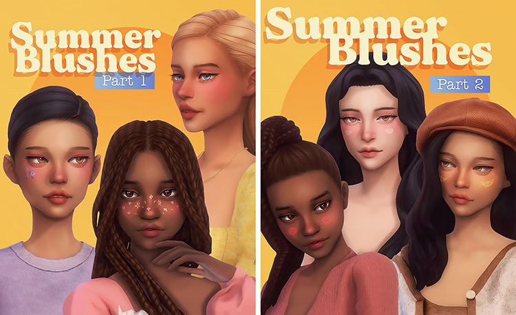 Summer Blushes Sims 4 CC