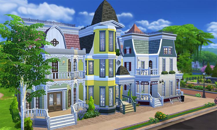 Victorian Avenue Sims 4 CC