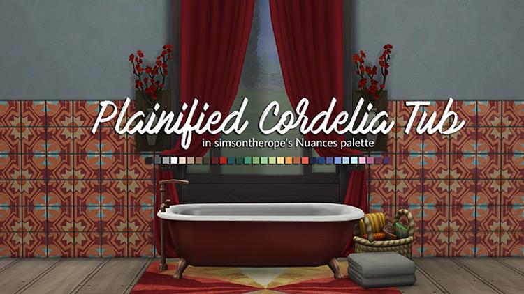 Plainified Cordelia Tub TS4 CC