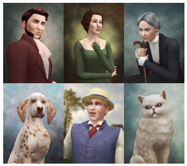 Historical Portraits for Sims 4