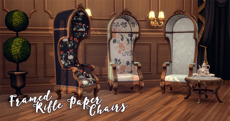 Framed Rifle Paper Chairs Sims 4 CC