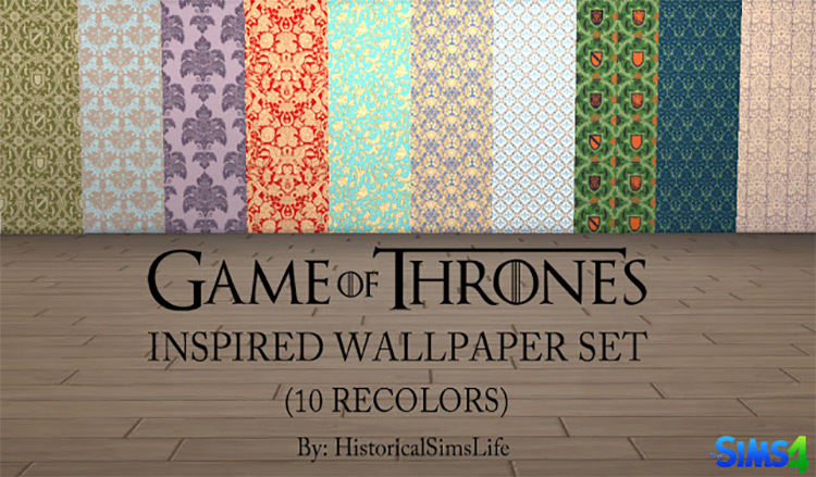 Game of Thrones-inspired Wallpaper Set TS4 CC