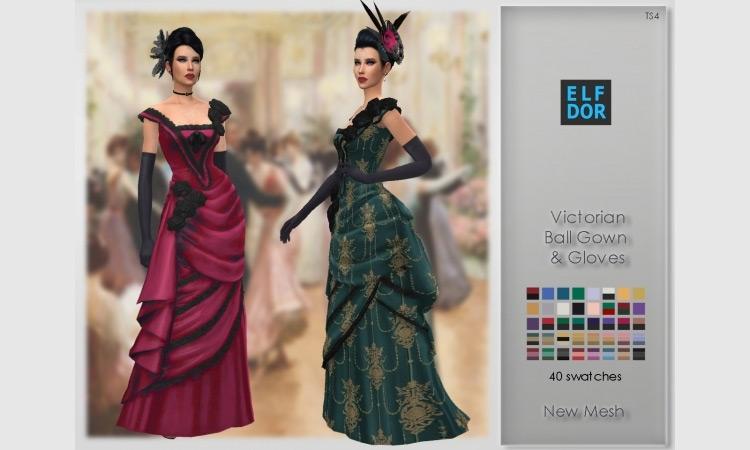 Victorian Ballroom Set Sims 4 CC