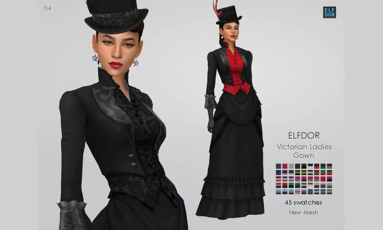 Victorian Ladies Gown for Sims 4