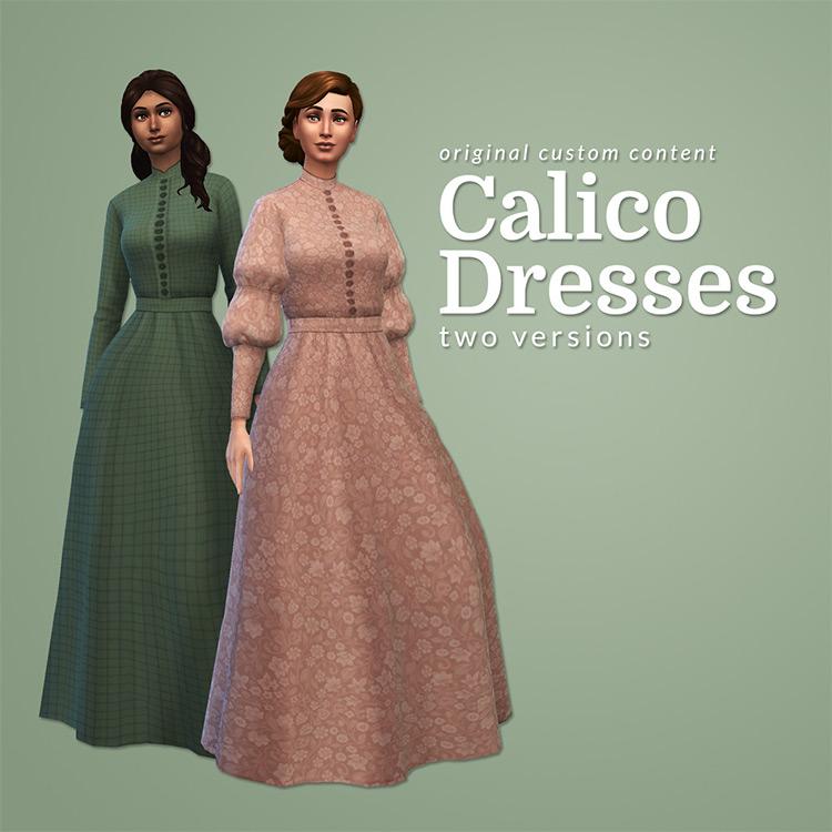 Calico Dresses Sims 4 CC