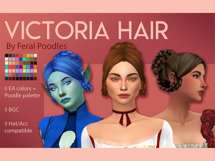 Victoria Hair Sims 4 CC screenshot