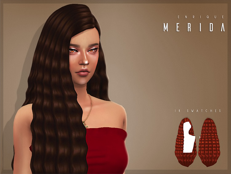 Merida Hairstyle Sims 4 CC