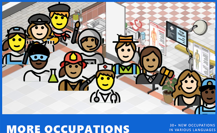 More Occupations Project Hospital mod