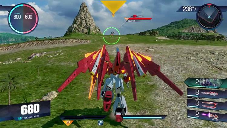 Gundam Versus video game screenshot