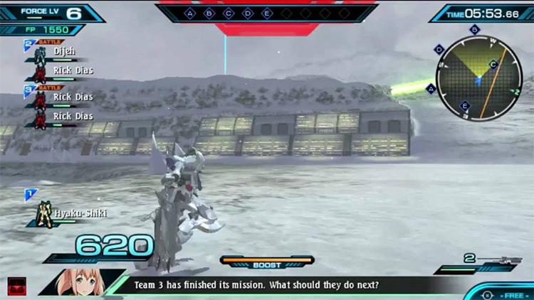 MS Gundam: Extreme VS Force gameplay PS Vita