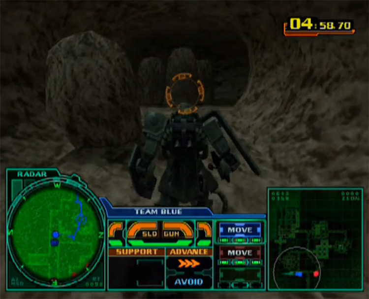 MS Gundam: Zeonic Front (2002) gameplay screenshot