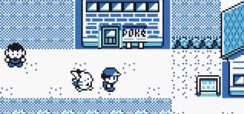 Pokemon Yellow Version GBC - Cerulean City Screenshot