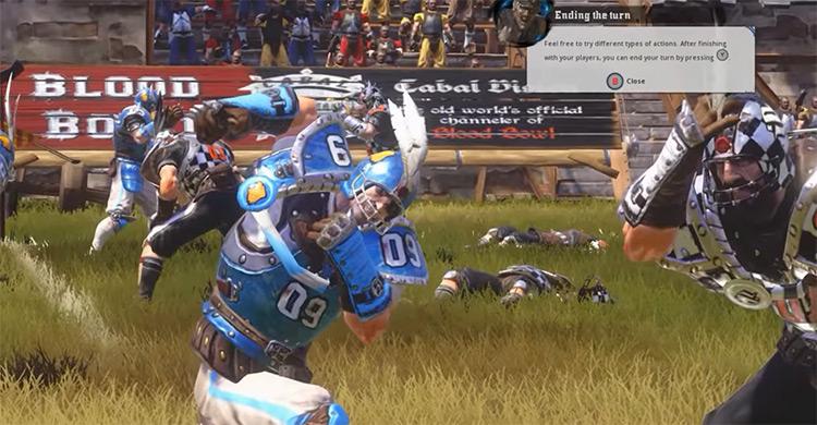 Blood Bowl 2 PS4 gameplay screenshot