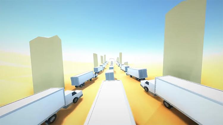 ClusterTruck PS4 gameplay screenshot