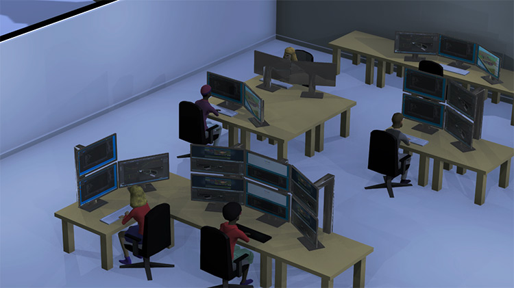 Multi Monitor Setup in Software Inc. Game