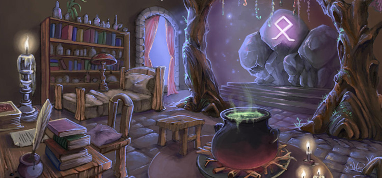 Digital Painting - Wizards Living Room