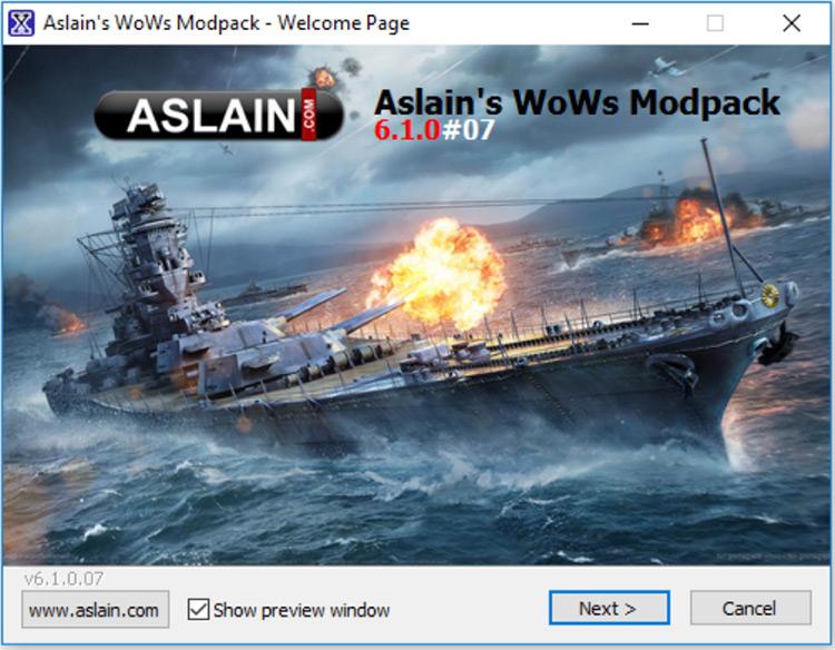 Aslain's Modpack World of Warships mod