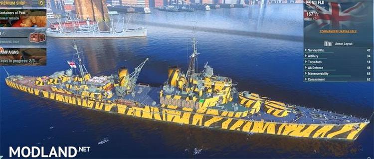 Set of Camouflage World of Warships mod
