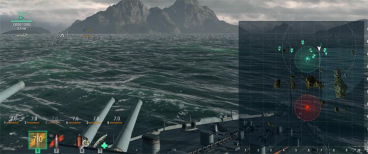 Clear Minimap World of Warships mod