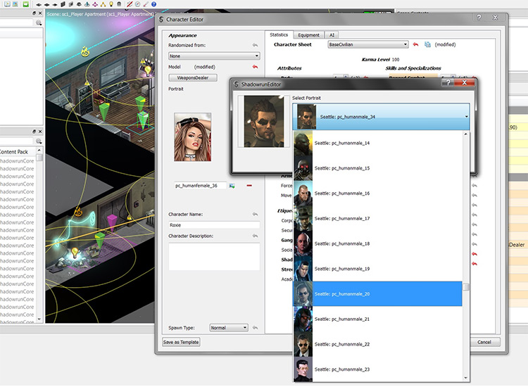 Personalized Player Portraits Shadowrun Returns mod