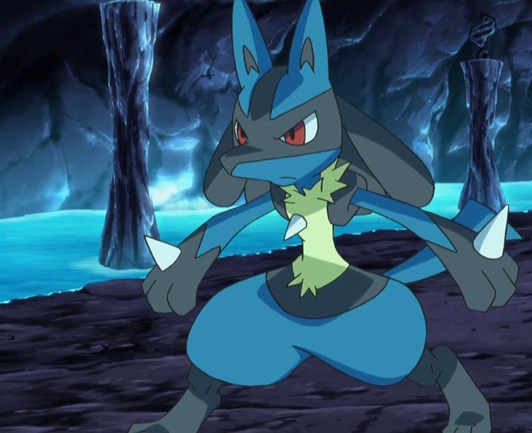 Lucario from Pokemon anime