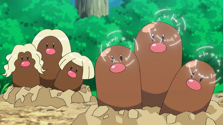 Dugtrio Pokemon anime screenshot
