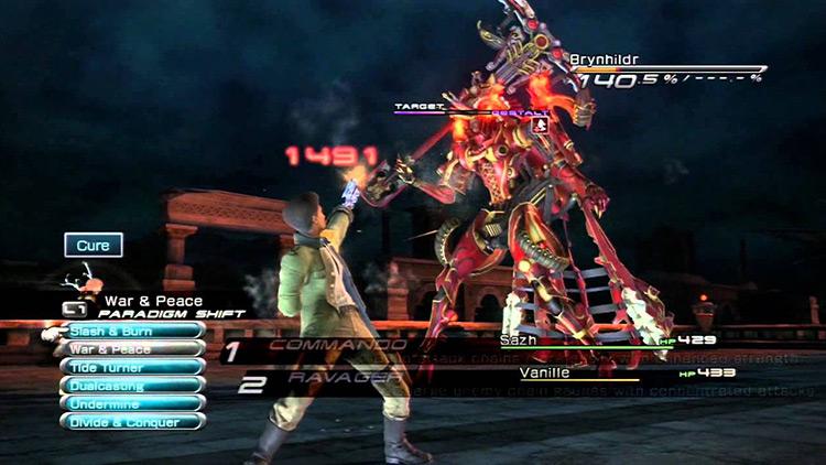 Brynhildr boss in Final Fantasy 13