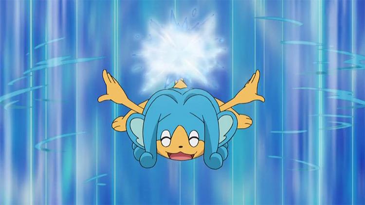 Simipour Pokemon in the anime