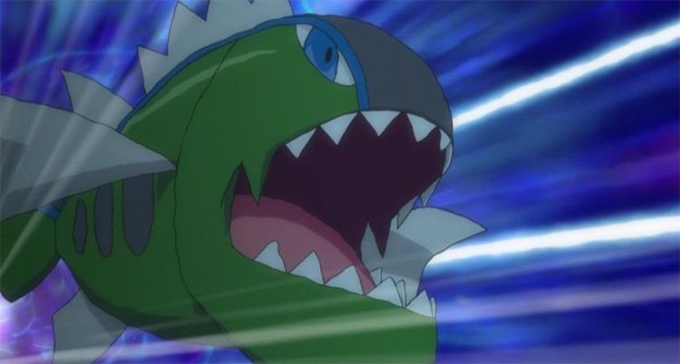 Basculin Pokemon anime screenshot