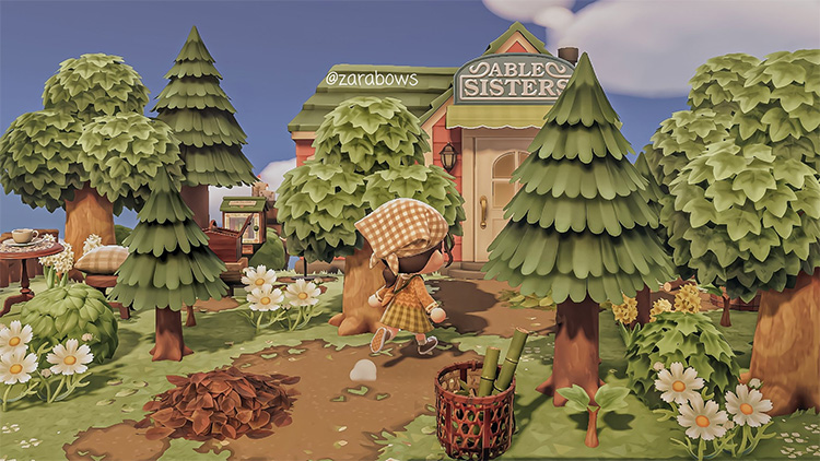 Able Sisters shop in forest area - ACNH