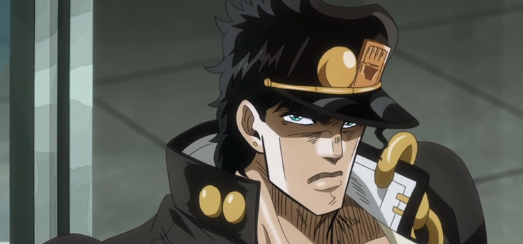 Joutarou in JJBA Anime