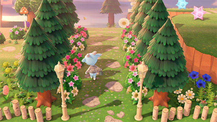 Simple Flower Forest Entrance - ACNH
