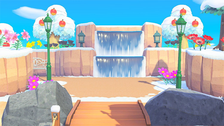 Waterfalls Design for ACNH Entrance