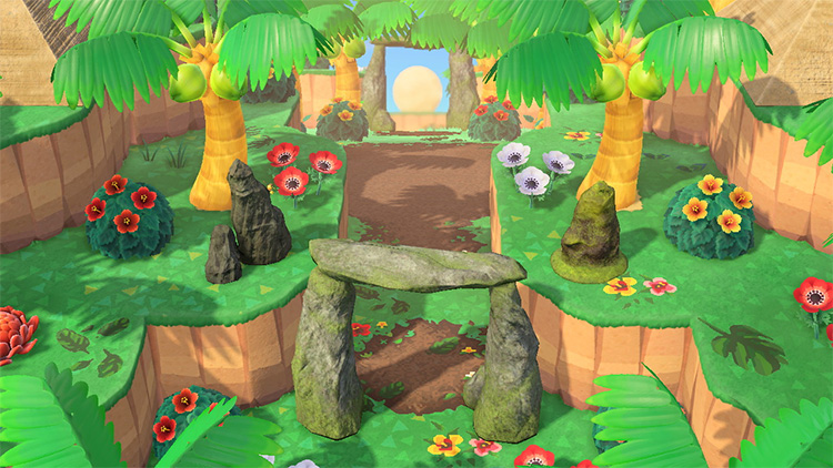 Tropical Entryway for Animal Crossing: New Horizons