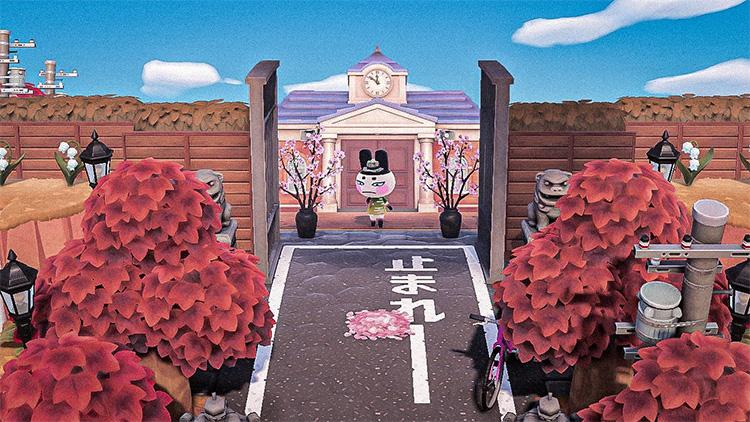 Japanese Garden ACNH Entrance