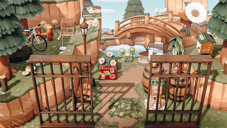 Cottagecore Entry Area for Animal Crossing: New Horizons