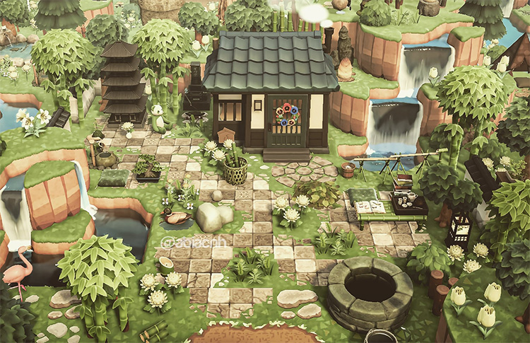 Rural simple yard idea for Animal Crossing: New Horizons