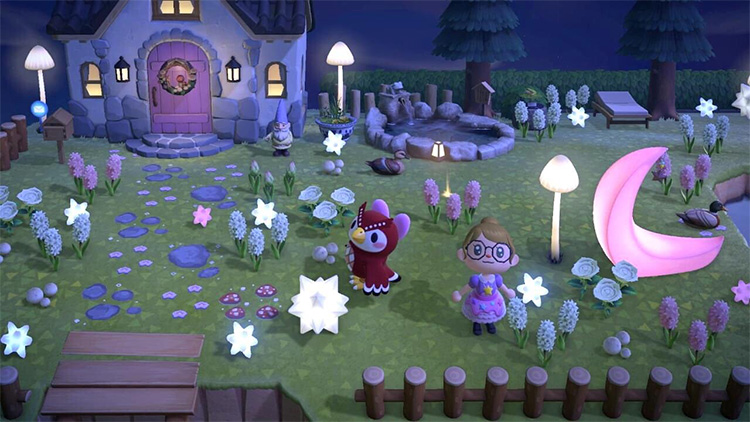 Magical Front Yard at Night - ACNH