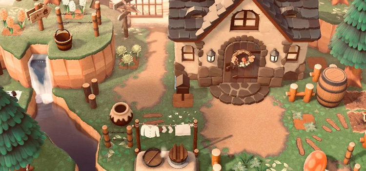 Cottagecore Front Yard & House Idea - Animal Crossing New Horizons