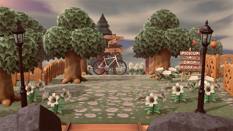 Cottagecore Entrance Idea for Animal Crossing: New Horizons