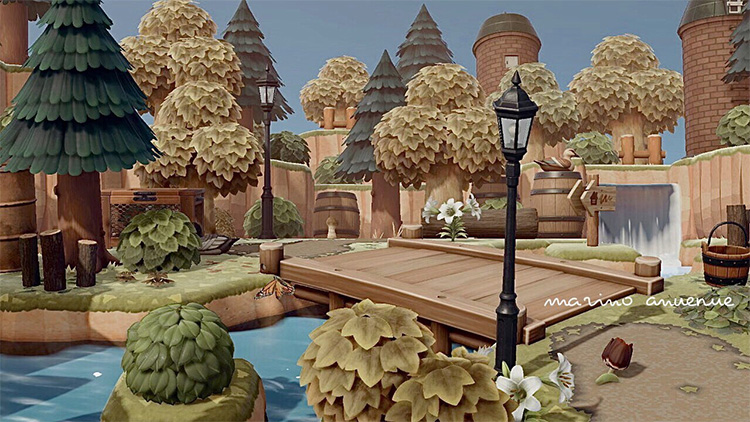 Forest Bridge Design for Animal Crossing: New Horizons